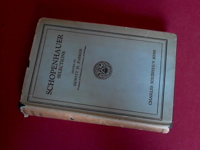 SCHOPENHAUER, ARTHUR - Selections